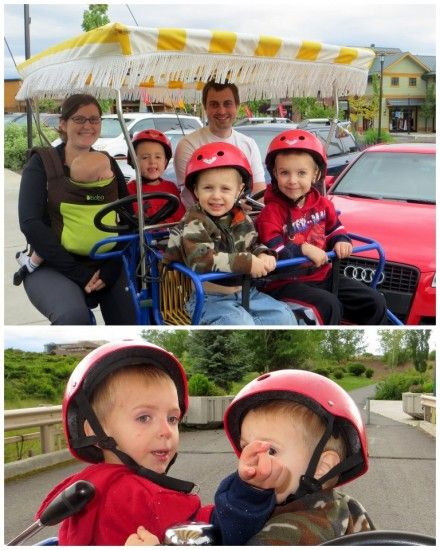 Fun Family Attractions in Bend Oregon - Surrey Bike Rental in Old Mill District #Travel #Bend #Oregon