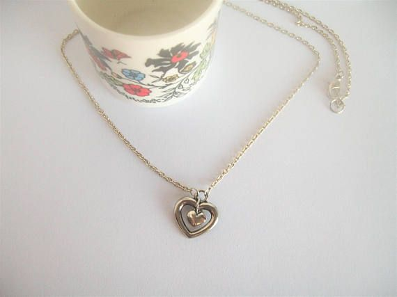 Heart Necklace Double Heart Necklace Valentine's Day
