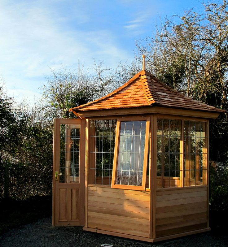 Garden Summerhouses in natural Western Red Cedar from www.victoriangardenbuildings.com
