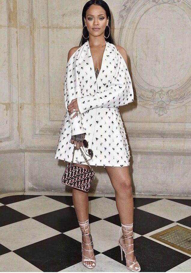 Rihanna at Paris Fashion Week for Dior.