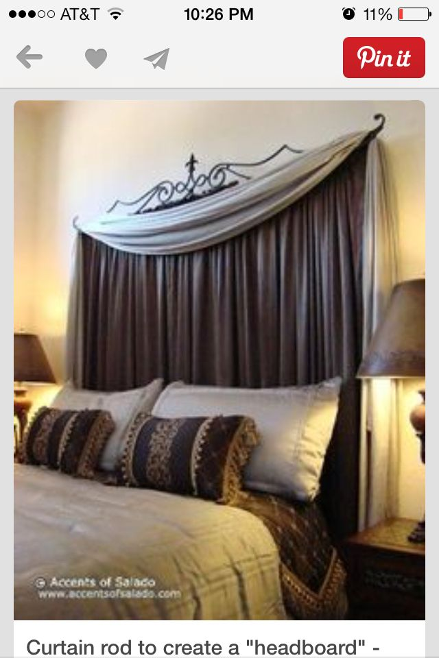 17 best images about bed headboard ideas on pinterest for Faux headboard ideas