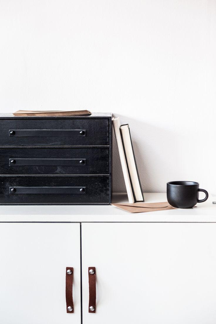 Design Studio Nu - leather handle - grip - size 3 - black