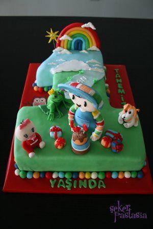 Çağan Kurbağa Prens  1 yaş pasta