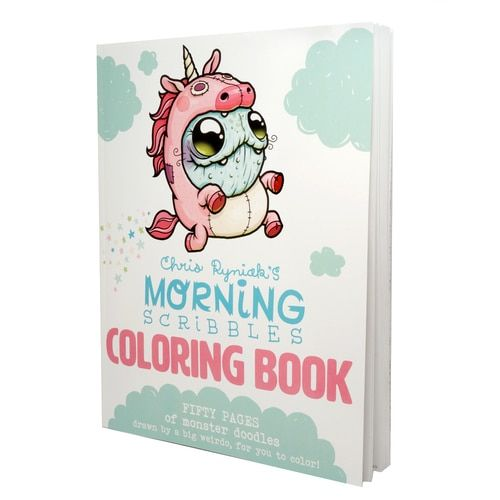 Morning Scribbles Coloring Book By Chris Ryniak Artsy