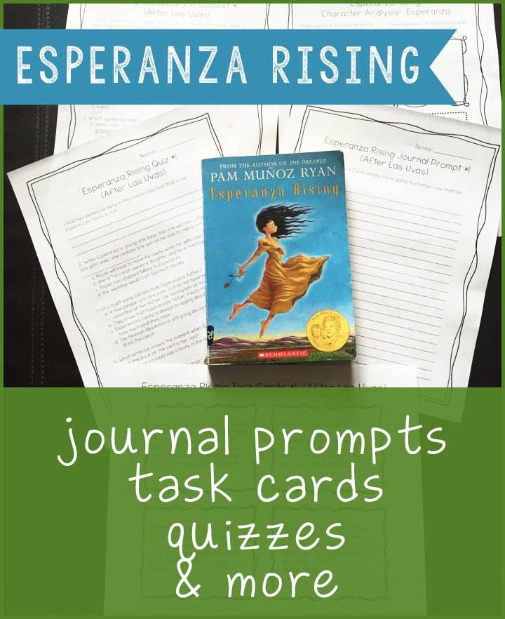 esperanza rising essay prompts An essay or writing assignment grading form for esperanza rising projects and homework part of a comprehensive lesson plan from bookragscom.