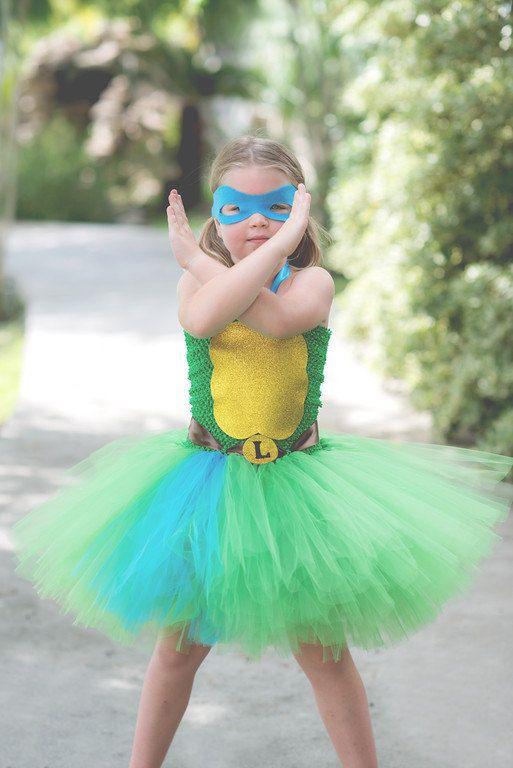 Ninja Turtle Leonardo tutu dress costume. Hey, I found this really awesome Etsy listing at https://www.etsy.com/listing/472929343/leonardo-costume-teen-mutant-ninja