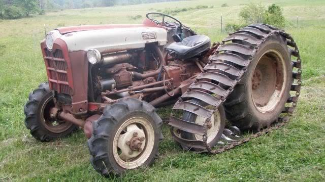 Old Tractor With Tracks : Ford diesel tractor with elenco wd conversion