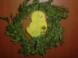 velikonoční ozdoby na dveře