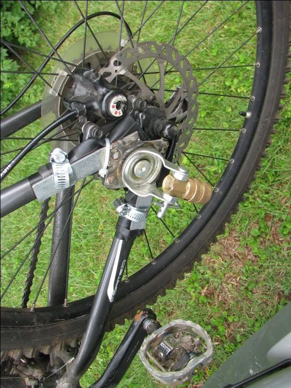 Diy Bike To Trailer Connection Detail Bike Trailer Bicycle