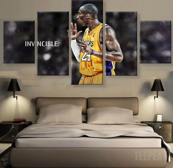 "Kobe Bryant ""INVINCIBLE"" - 5 Piece Canvas Painting-Canvas-TEEPEAT  #prints #printable #painting #empireprints #teepeat"