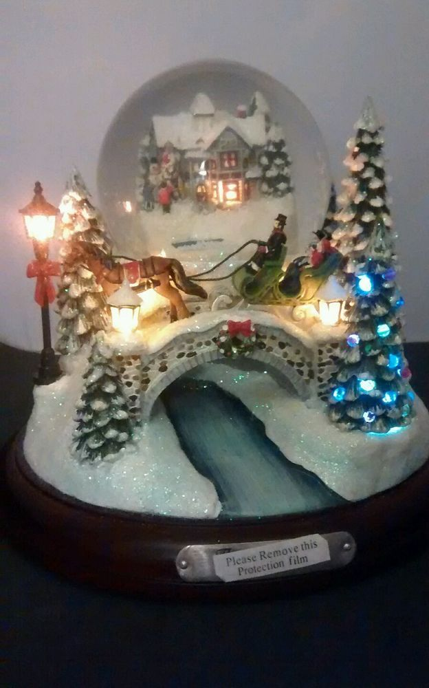 4098 Snow Globes Images Pinterest Water Thomas Kinkade Jingle Bells