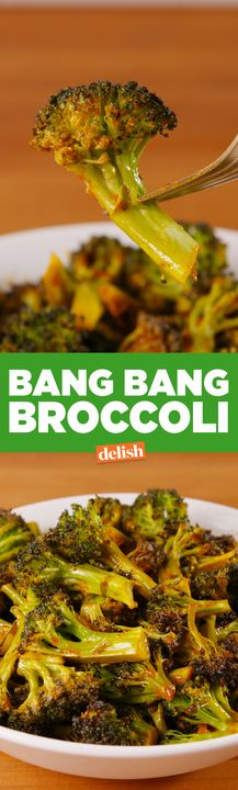 This Bang Bang Broccoli will actually make your family fight over vegetables. Get the recipe from Delish.com.