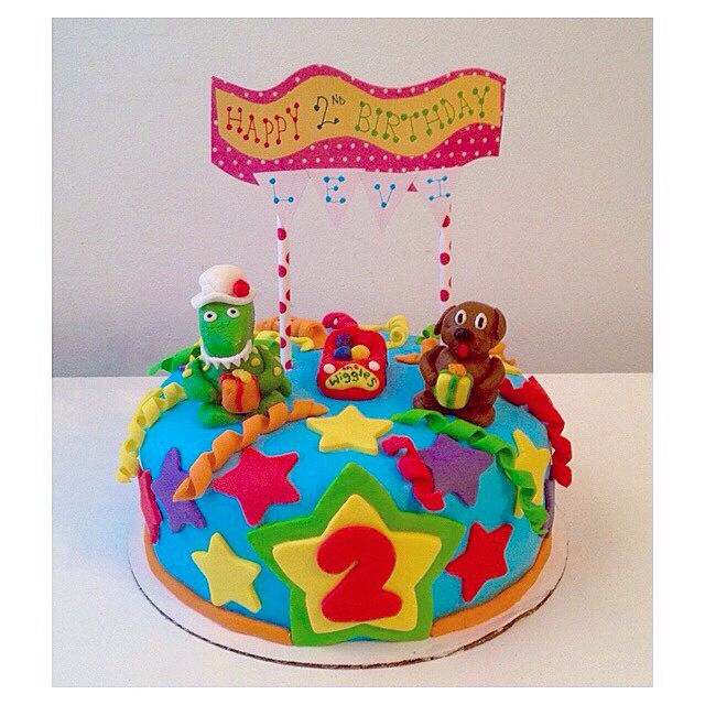 The Wiggles themed birthday cake