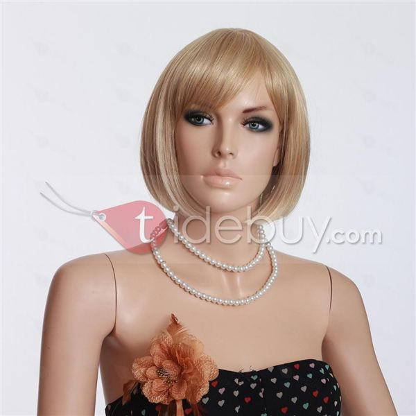 Sunny Fashion Bobo Style Short Blond Synthetic Wigs About 12Inches : Tidebuy.com