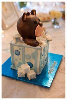 Teddy in a Box Cake