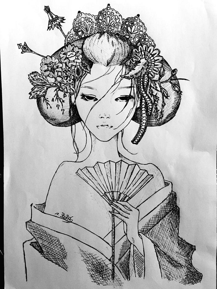 Asian girl drawing || time: 3h || #art #sketches #sketch #drawing #asian #asiangirl #female #woman #girl #blackandgray #black #gray #plctlay #plc