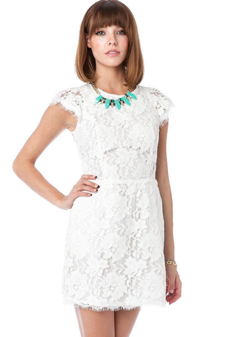 ShopSosie Style : Sarafina Dress in White~Hot dress for a casual reception
