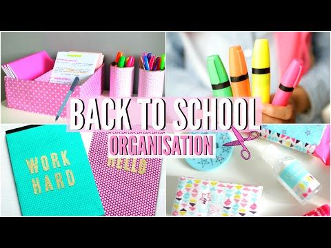 Back to school | DIY , Organisation & Essentiels ! - YouTube