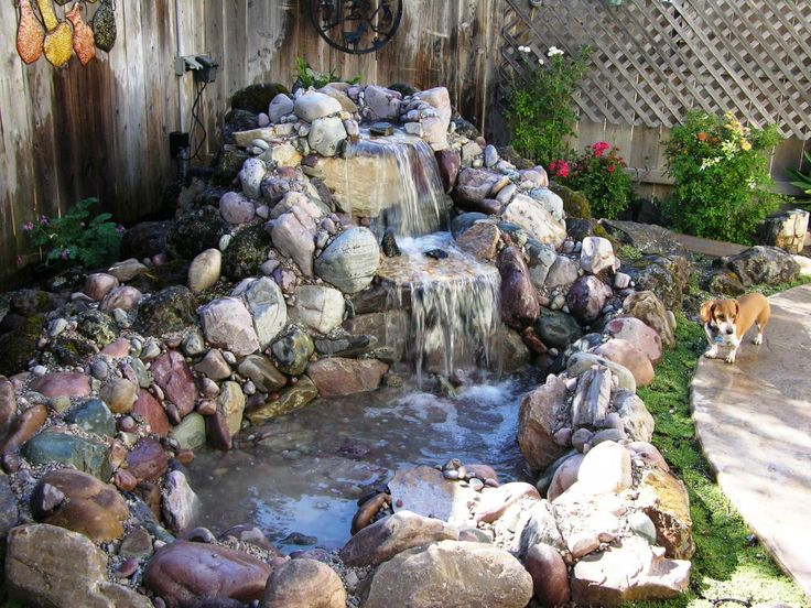 Waterfall Landscape Design Ideas a final look at the waterfall showing the way the water rolls down multiple rock Yard