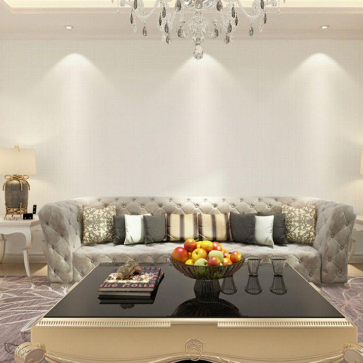 Простой Теплая Nordic простой сплошной цвет стекаются обои нетканого гостиной спальня 3D обои фон обои