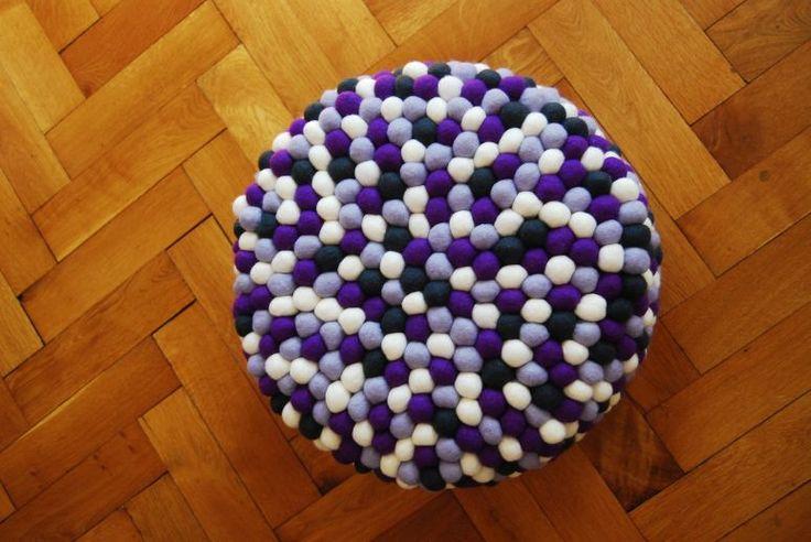 purple pouf