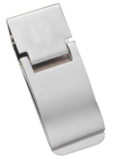 Clip style money clip is durable and easy to use. Makes a nice gift when engraved. #Wallet #Money Clip