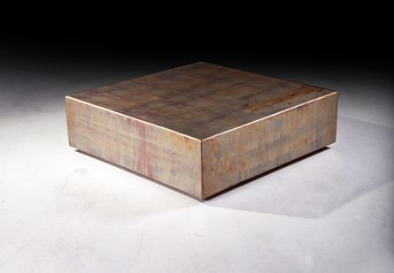 Phillips Collection Coffee Table Square Copper Patina Acid Finish Coffee Side Tables
