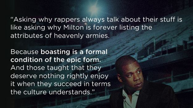 The heavenly armies of Milton.   Would someone remind jay z that he is young and he's black and his hat is real low...