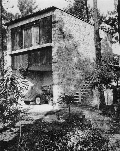 Piero BOTTONI: 'Casetta nella pineta', Marina di Massa