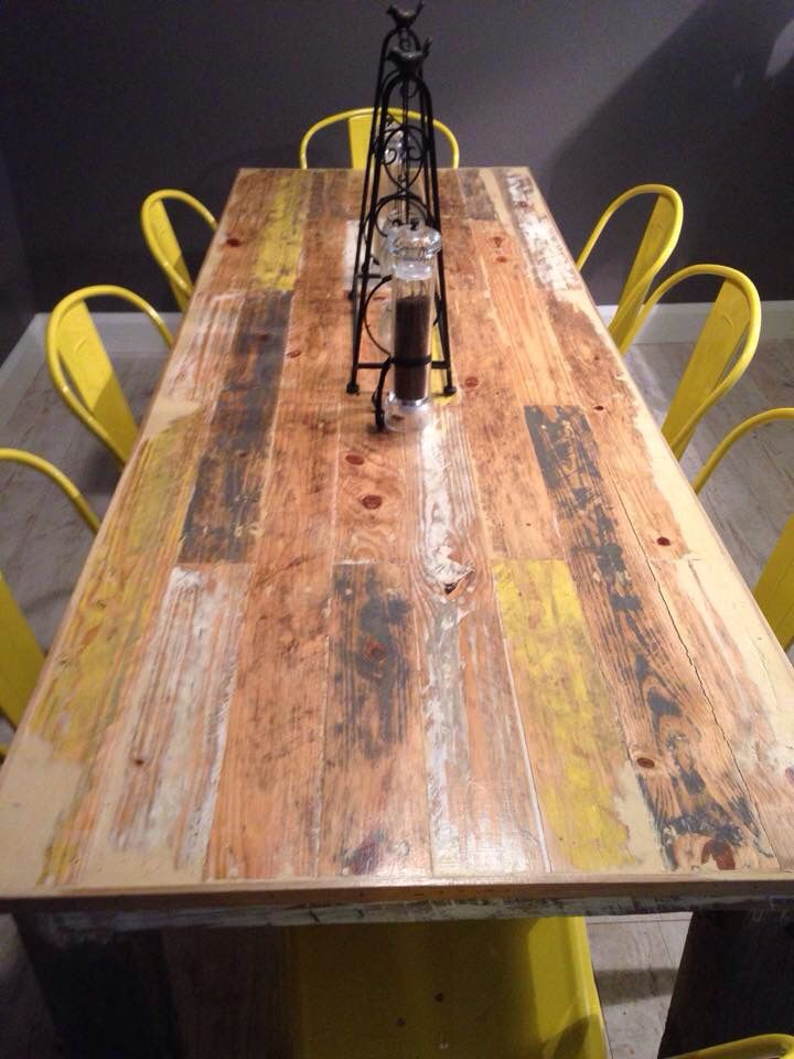 Reclaimed timber dining table