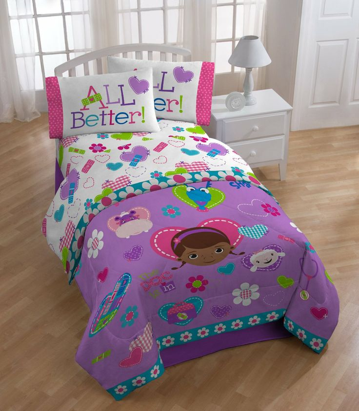 this purple doc mcstuffins u0026 friends twin sheet set by disney is the cutest one i have ever seen