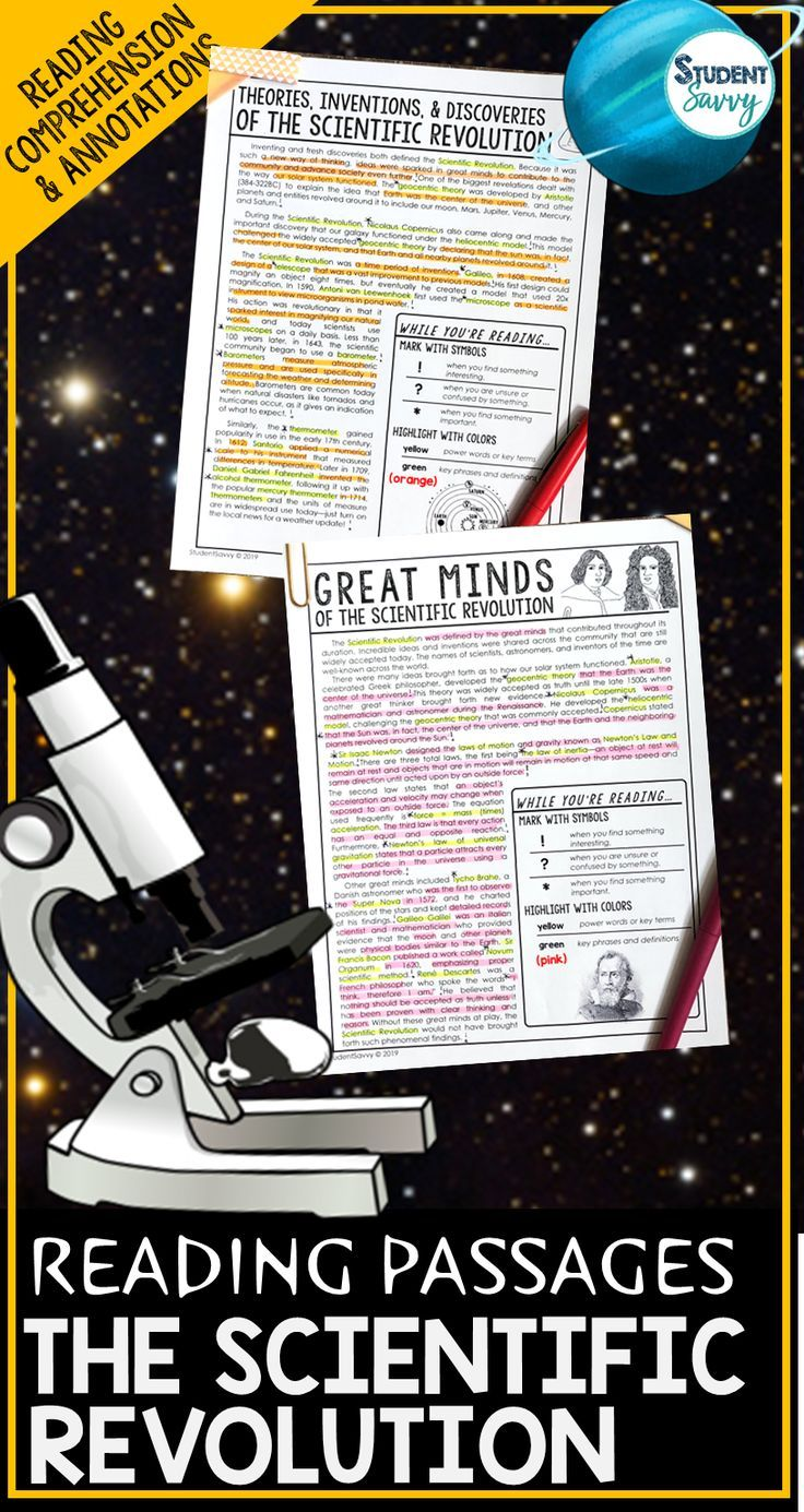 The Scientific Revolution Worksheets Reading Comprehension Passages Questions And Annotat Scientific Revolution Reading Passages Science Teaching Resources [ 1385 x 736 Pixel ]