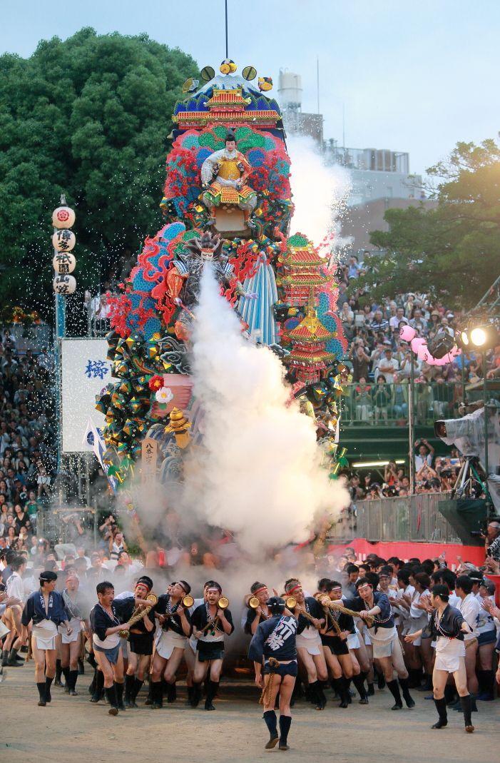 Hakata Yamagasa festival #6, a photo from Fukuoka, Kyushu   TrekEarth