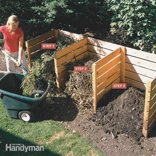 Kick your composting up a notch with these tips. Using this simple 3-bin composter you can turn yard and kitchen waste into rich compost in 4 to 6 weeks.