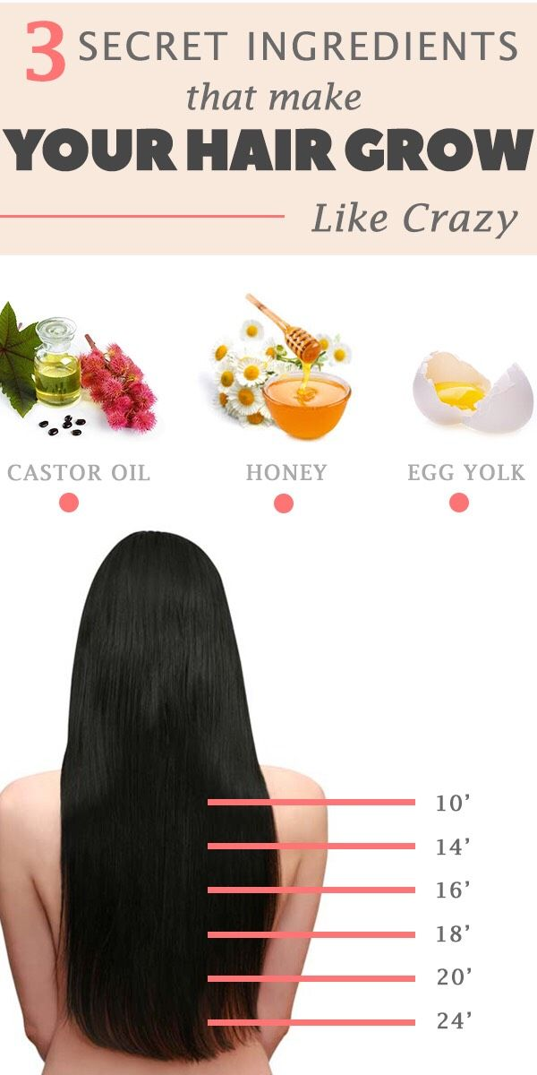 How to make your hair grow with only 3 ingredientsCastor oil – removes bacteria from your body, treats fungus, dandruff and infections that appear at the scalp level. Due to the high levels of ricinoleic acid, castor oil stimulates blood circulation, determining the hair to grow faster. Egg yolk – is rich in amino acids, biotin and proteins, ensuring the re-growth of your hair follicles. Honey – is a very strong antioxidant with anti-bacterial properties that stimulates your hair to ...