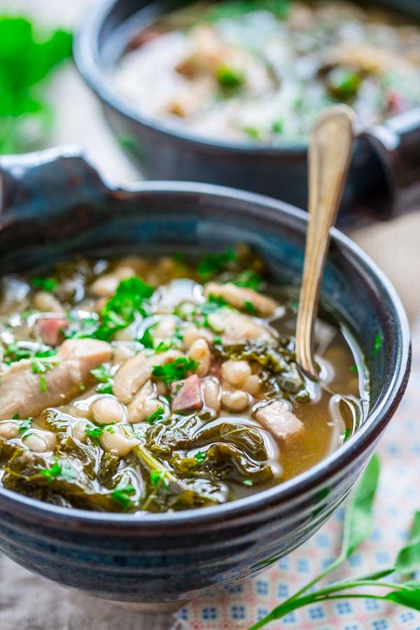 Slow Cooker White Bean Stew with Chicken and Ham {gluten-free and grain free}