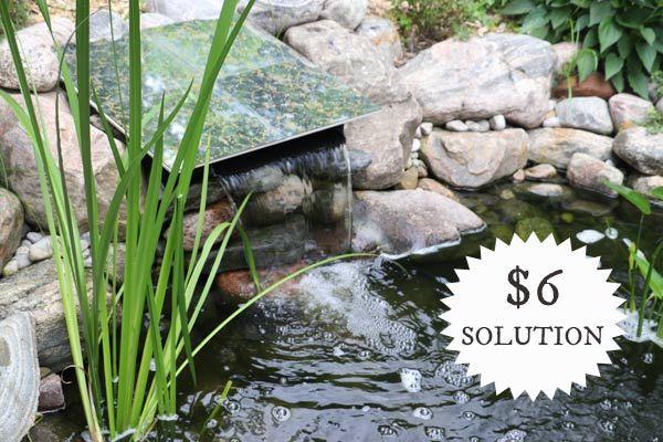 DIY Pond Waterfall Spillway