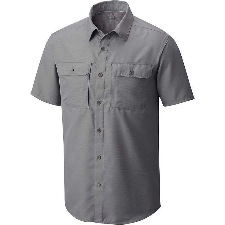 Mountain Hardwear Men's Canyon SS Shirt - Small - Manta Grey