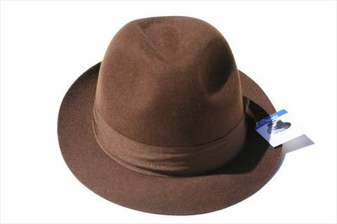 wool trilby - chocolate