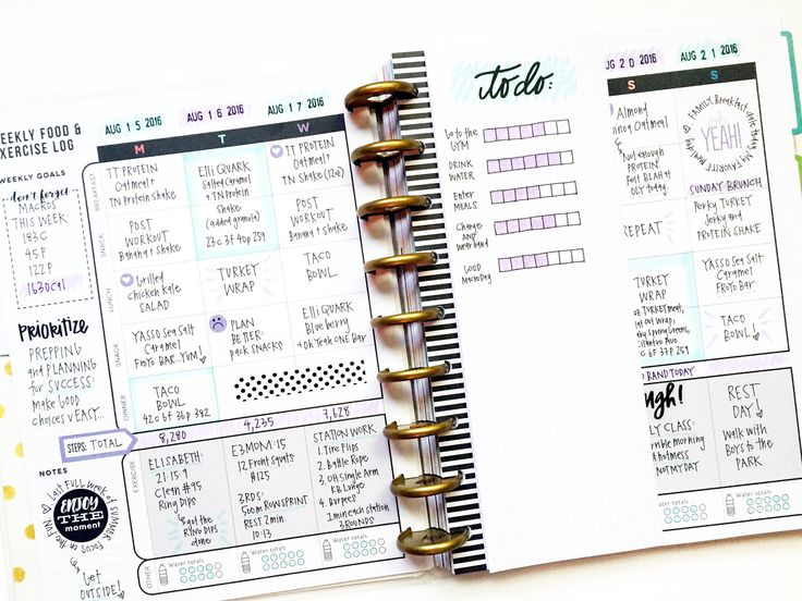 a week in The Happy Planner™ Fitness Planner of mambi Design Team member April…
