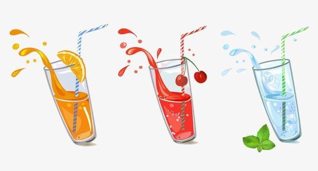 Vector De Bebidas Libre De Vectores Jugo De Fruta Jugos