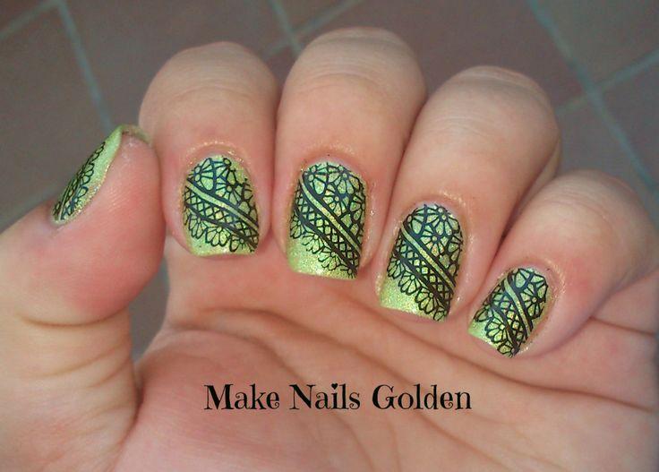 226 mejores imágenes de Make Nails Golden en Pinterest   Esmalte ...