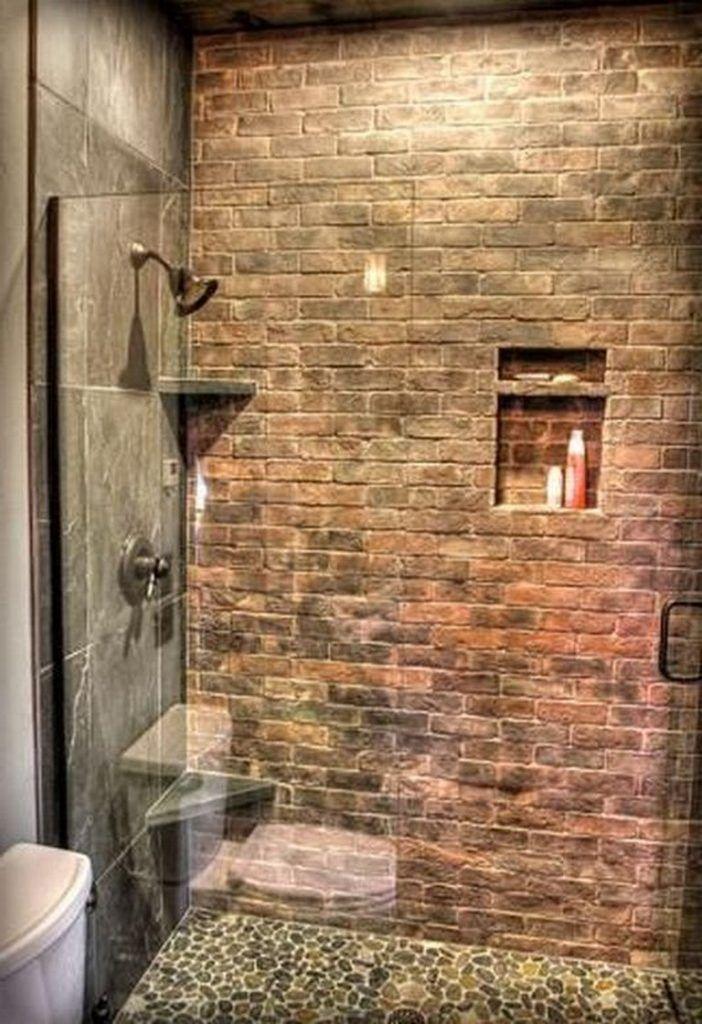 20 Gorgeous Brick Shower Wall Tile Designs Vintage Bathroom