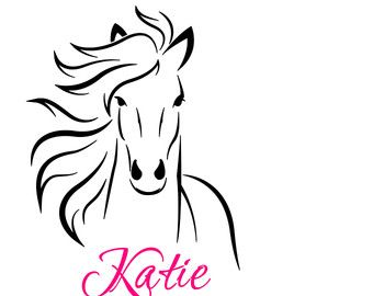 Horse Wall Sticker Decal For Girls Room Nursery By MyWallStickers Part 65