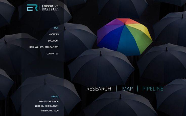 02.22.2013 | Website for Executive Research by gatouda #color #bold #umbrella