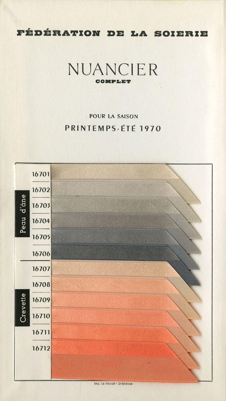 Federation of Silk.  Color Color for Spring/Summer 1970.  Lyon, France.