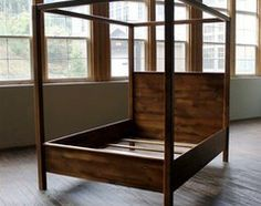 diy four poster bed frame storage - Google Search