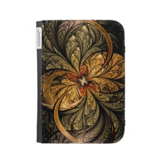 Shining Leaves Fractal Art Kindle Case $47.60