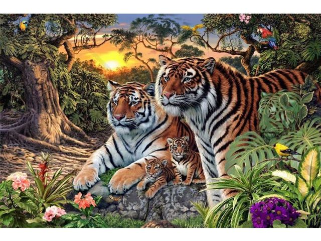 She Said There Were A Dozen Tigers, But I Only Saw Four! How Many Can You Find?