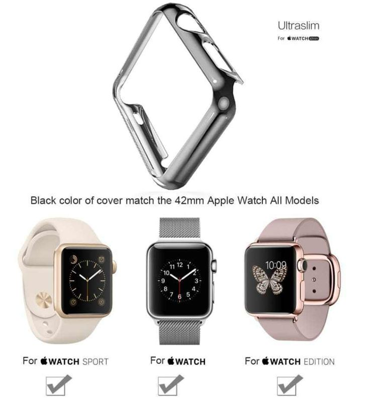 Case for Apple Watch 42MM Space Grey Protective Bumper Super thin Plated New #Biaoge